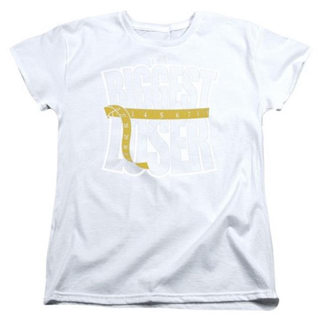 Trevco Biggest Loser-Logo Short Sleeve Womens Tee, Black - 2X