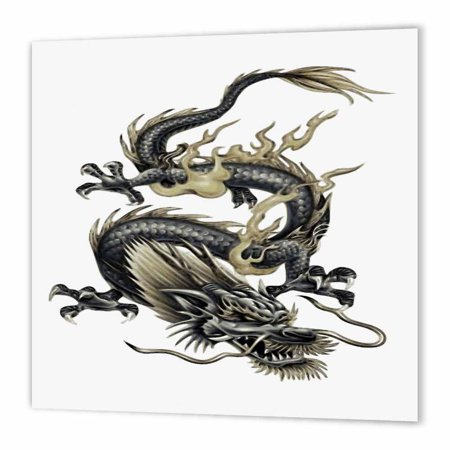 3dRose Lucky Dragon - dragon, chinese dragon, year of the dragon, chinese new year, gift idea, fathers day, Iron On Heat Transfer, 10 by 10-inch, For White Material - Chinese New Year Decor Ideas