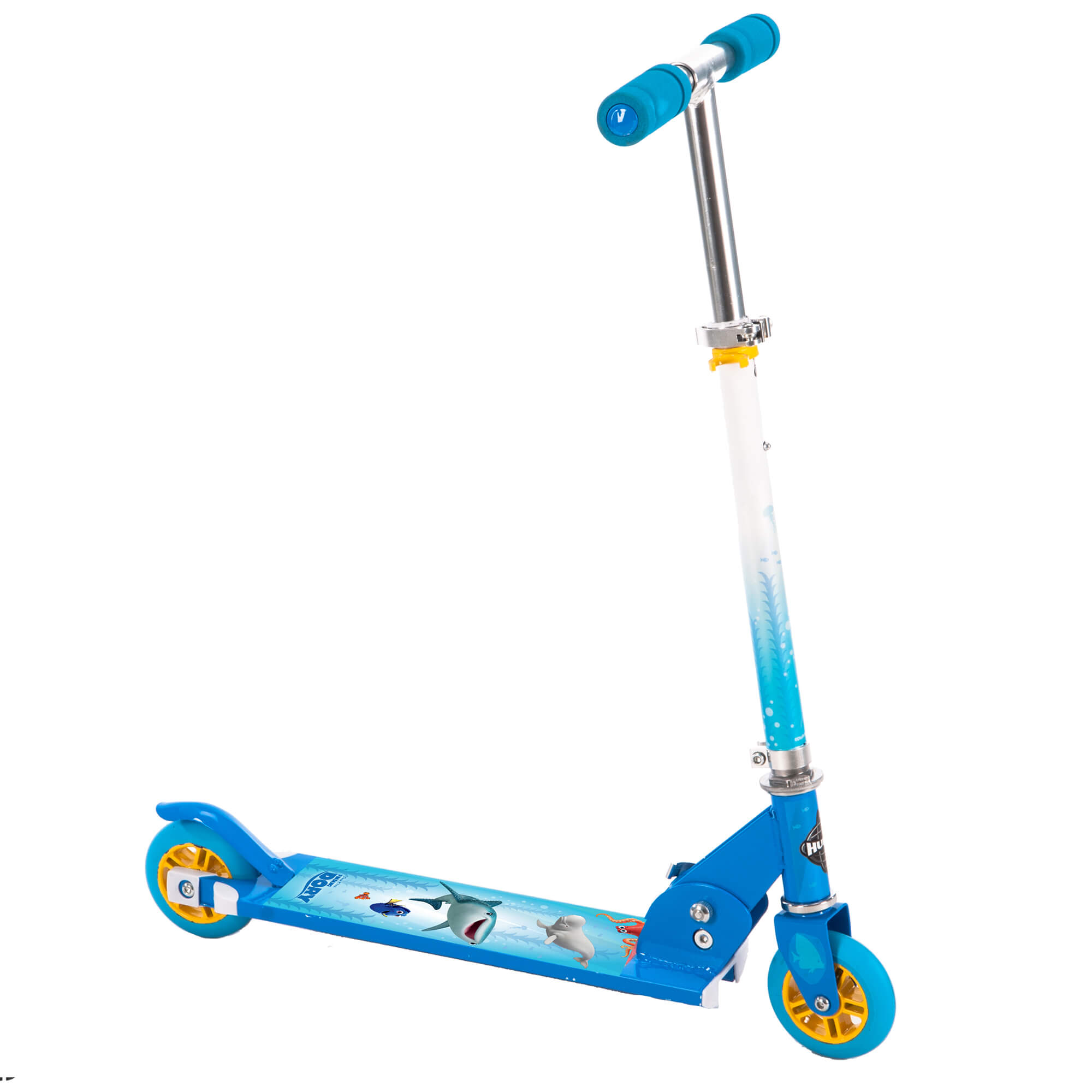 Disney Finding Dory Girls' 2-Wheel Inline Blue Scooter, by Huffy by Huffy