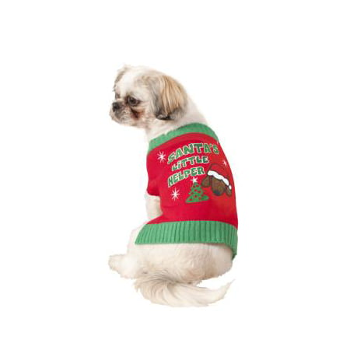 PET SWEATER-SANTAS LIL HELP-SM - Santa's Helper Costume