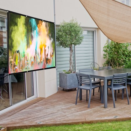 2PCS 84inch Projector Screen 4:3 HD High Contrast 4K Home Cinema Indoor/ Outdoor  Backyard Movie Projection Suitable For Christmas Party - image 4 of 5