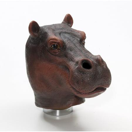 Latex Animal Costume Mask Adult: - Hippo Mask