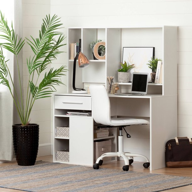 South Shore Annexe Desk And White Office Chair With