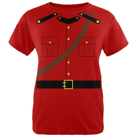 Halloween Canadian Mounty Police Costume Womens T Shirt - Canada Halloween