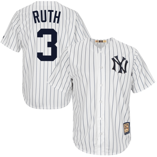 Babe Ruth New York Yankees Majestic Cool Base Cooperstown Collection Player Jersey - White