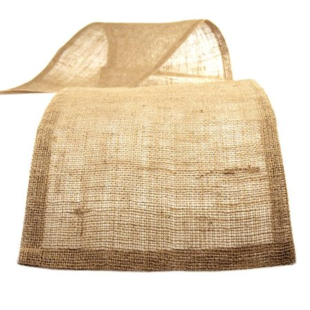 Braided Mesh Burlap Table Runner, Natural, 14-Inch