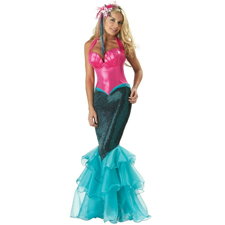 Elite Deluxe Mesmerizing Mermaid Adult Sexy Pink & Blue Women Costume Dress