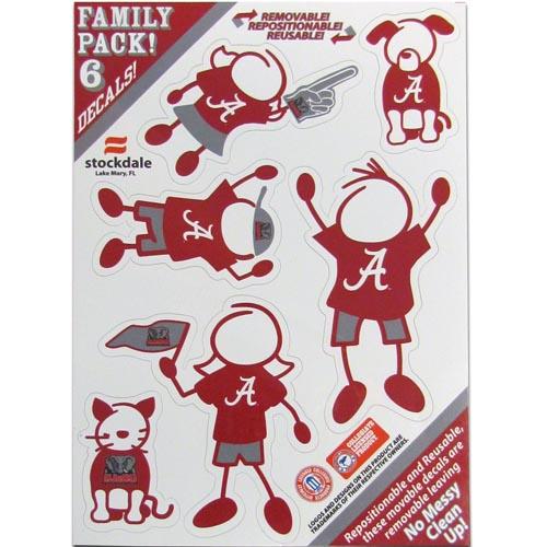 Alabama Crimson Tide Family Decal Set Small (F)