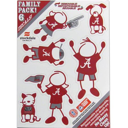Alabama Crimson Tide Family Decal Set Small (F) Alabama Crimson Tide Decals