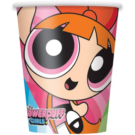 Powerpuff Girls Paper Cups, 9 oz, 8ct