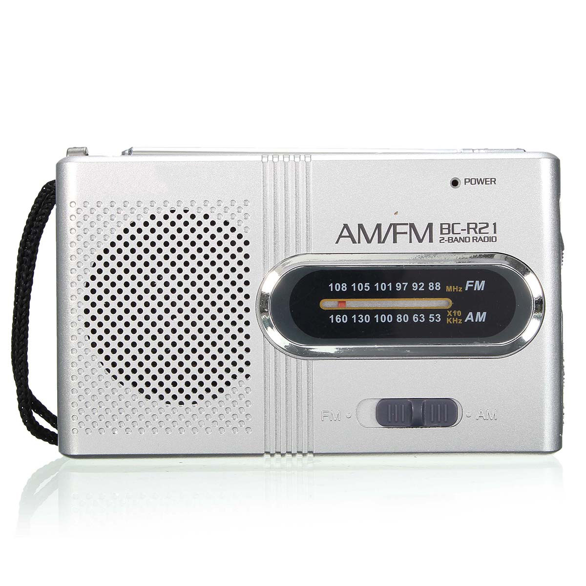BC-R21 Portable Radio Receiver Mini Radio AM-FM Receiver Outdoor Speaker World Radio Receiver