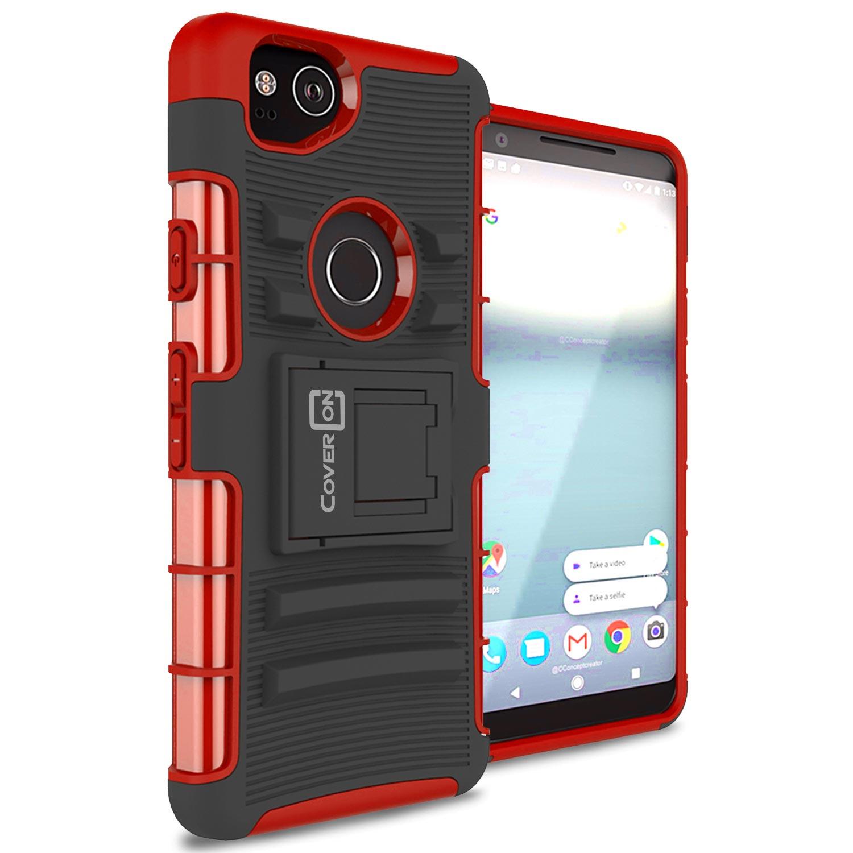CoverON Google Pixel 2 Case, Explorer Series Protective Holster Belt Clip Phone Cover