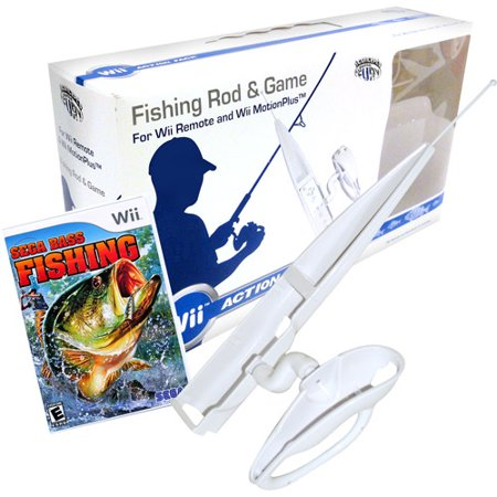 Sega bass fishing with rod wii for Wii fishing games