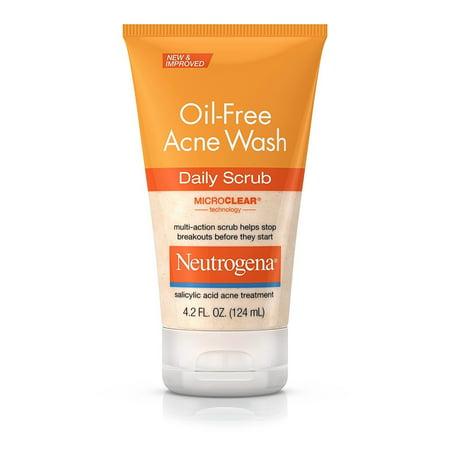 Neutrogena Oil-Free Acne Face Wash Daily Scrub With Salicylic Acid, 4.2 Fl. Oz.