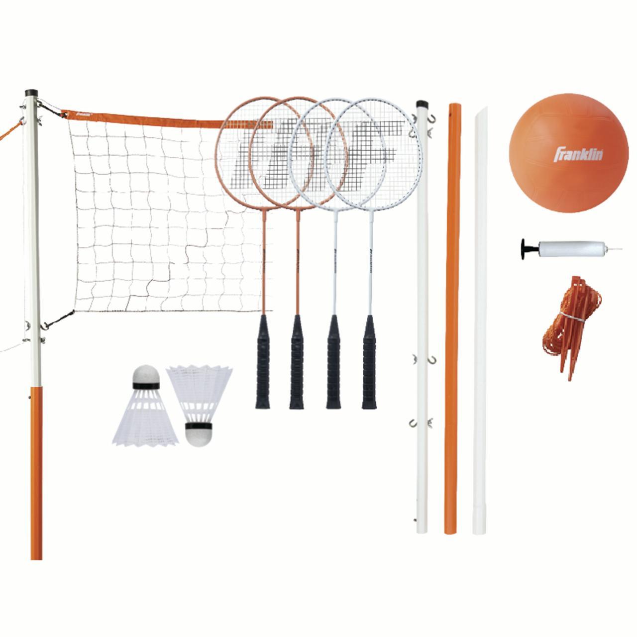 Franklin Sports Starter Volleyball Badminton Combo Set