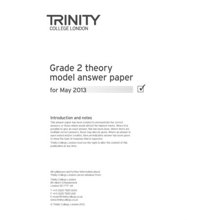 Trinity College London Theory Model Answers Paper (2013) Grade 2 (Trinity College Halloween)