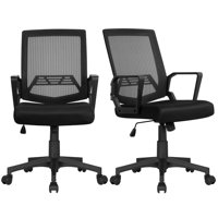 Topeakmart 2PCS Mesh Office Adjustable Swivel Computer Desk Chair Deals