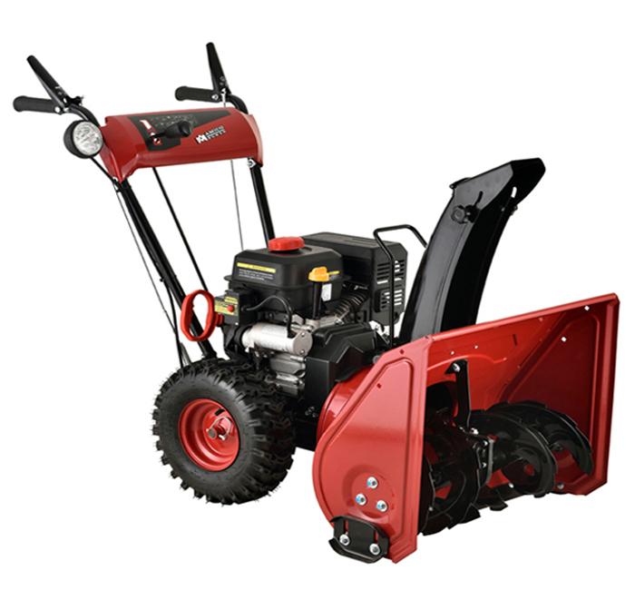 AST-24 inch 212cc Two-Stage Electric Start Gas Snow Blower Snow Thrower by Amico Power Corp