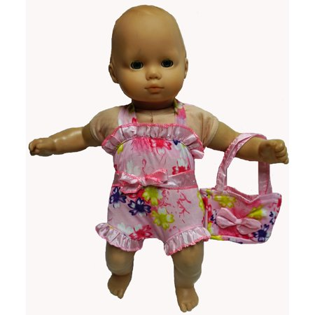 Baby Doll Clothes At Walmart New Baby Doll Clothes Pink Flower Bathing Suit With Beach Bag Walmart