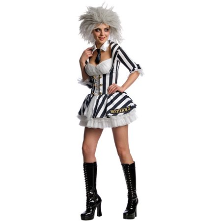 Beetlejuice Sassy Adult Halloween Costume (Halloween Costume Beetlejuice)