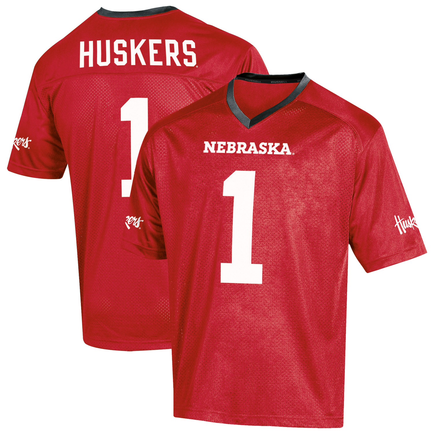 Youth Russell Scarlet Nebraska Cornhuskers Replica Football Jersey