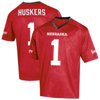 Youth Russell Athletic Scarlet Nebraska Cornhuskers Replica Football Jersey