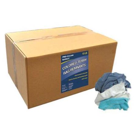 PROCLEAN BASICS Z99401 Colored Terry Cloth Remnants,15 lb. Box
