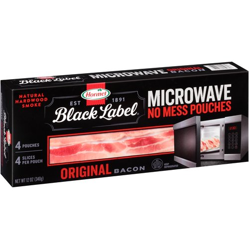 Hormel Black Label Original Microwave Ready Bacon, 12 oz