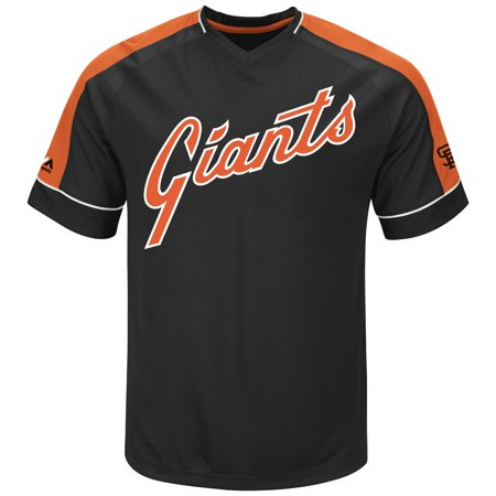 San Francisco Giants Majestic MLB Tandem Cooperstown V-Neck Mens Fashion Jersey by