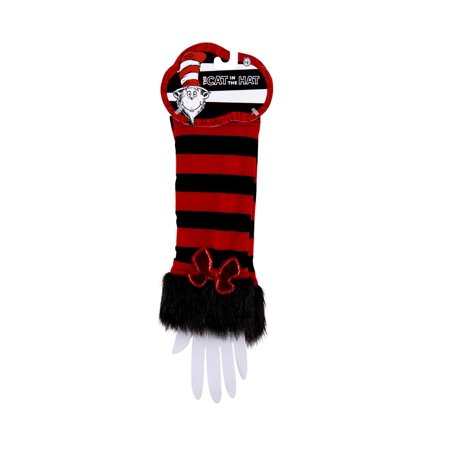 Dr. Seuss Cat In The Hat Fuzzy Costume Glovettes Adult (Dr Seuss Characters Costume Ideas)