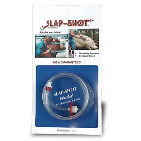Slap Shot Flexible Vaccinator attaches to Syringe for Easy Injection Cattle