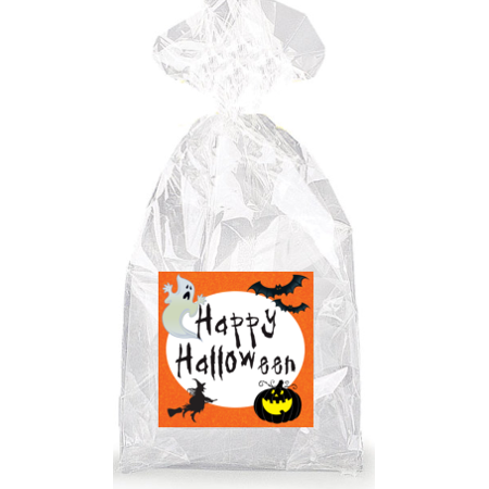 Spooky Happy Halloween  Party Favor Bags with Ties - 12pack (Happy Halloween Spooky Font)