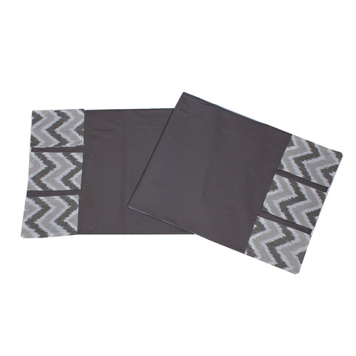 Changing Table Storage Runner, Purple Bacati Mix N Match Ikat Zigzag//Chevron Nursery Storage