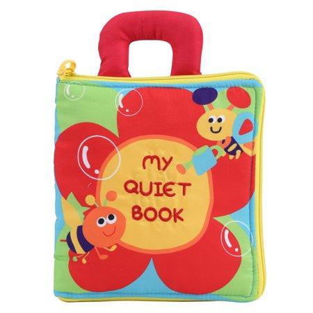 Ejoyous Baby Infant Intelligence Developmental Soft Cloth Book Early