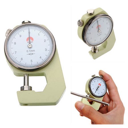 0 to 10mm Pocket Dial Thickness Gauge Gage Testing Measurement Tool 0.1mm K1 Ace