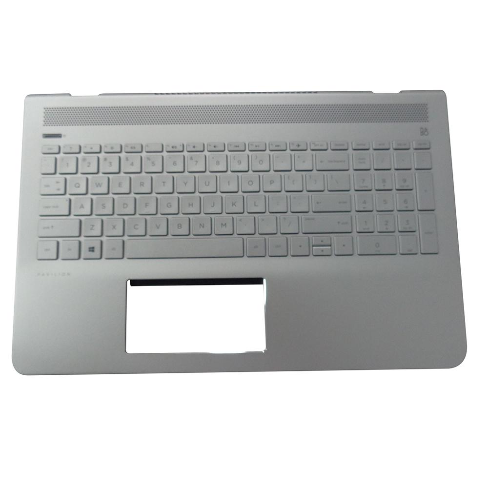 Genuine HP Pavilion 15-CC 15T-CC Silver Palmrest w/ Keyboard 928951-001