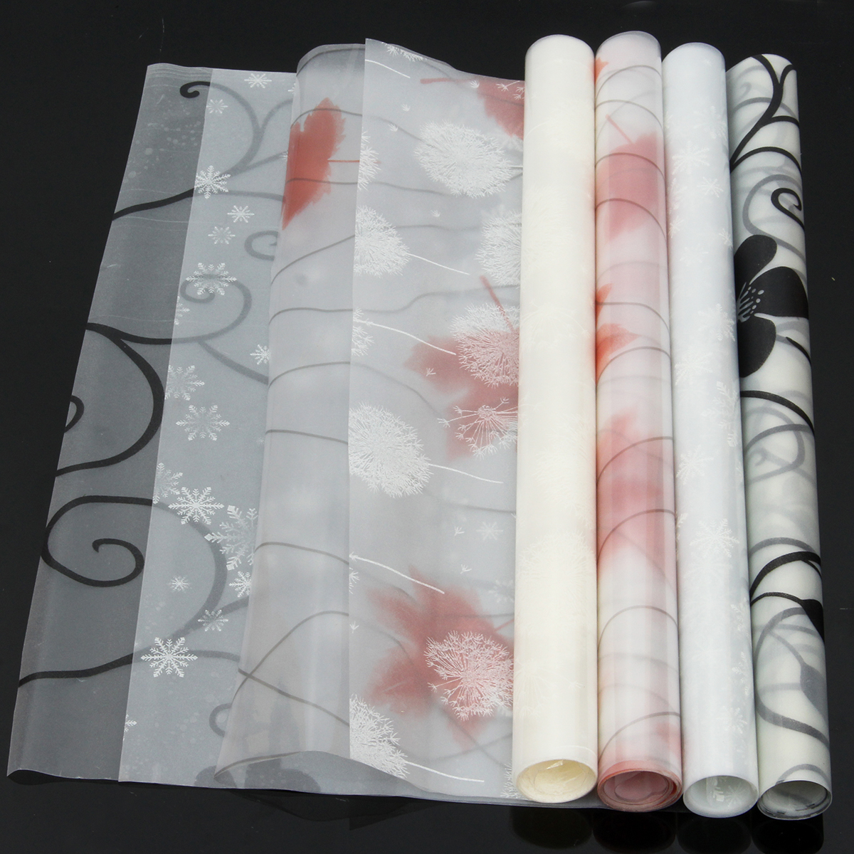 """1Pcs 17.72""""x78.74"""" Waterproof Window Glass Film Sticker Frosted Window Film Self Static Cling For Home and Office"""
