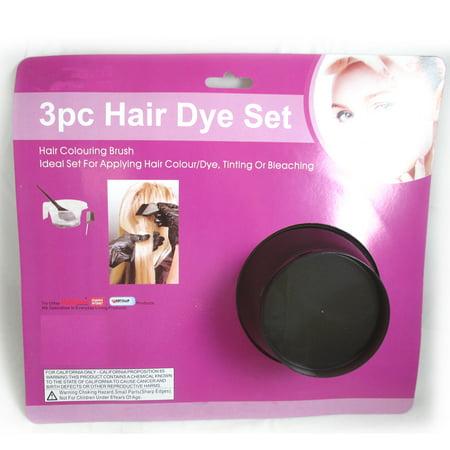 Salon Hair Coloring Dyeing Kit Color Dye Brush Comb Mixing Bowl ...