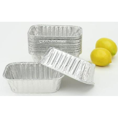 Disposable Aluminum 1 Lb. Size Mini Loaf Pans-Bread Pans-Cake Pans- Pack of