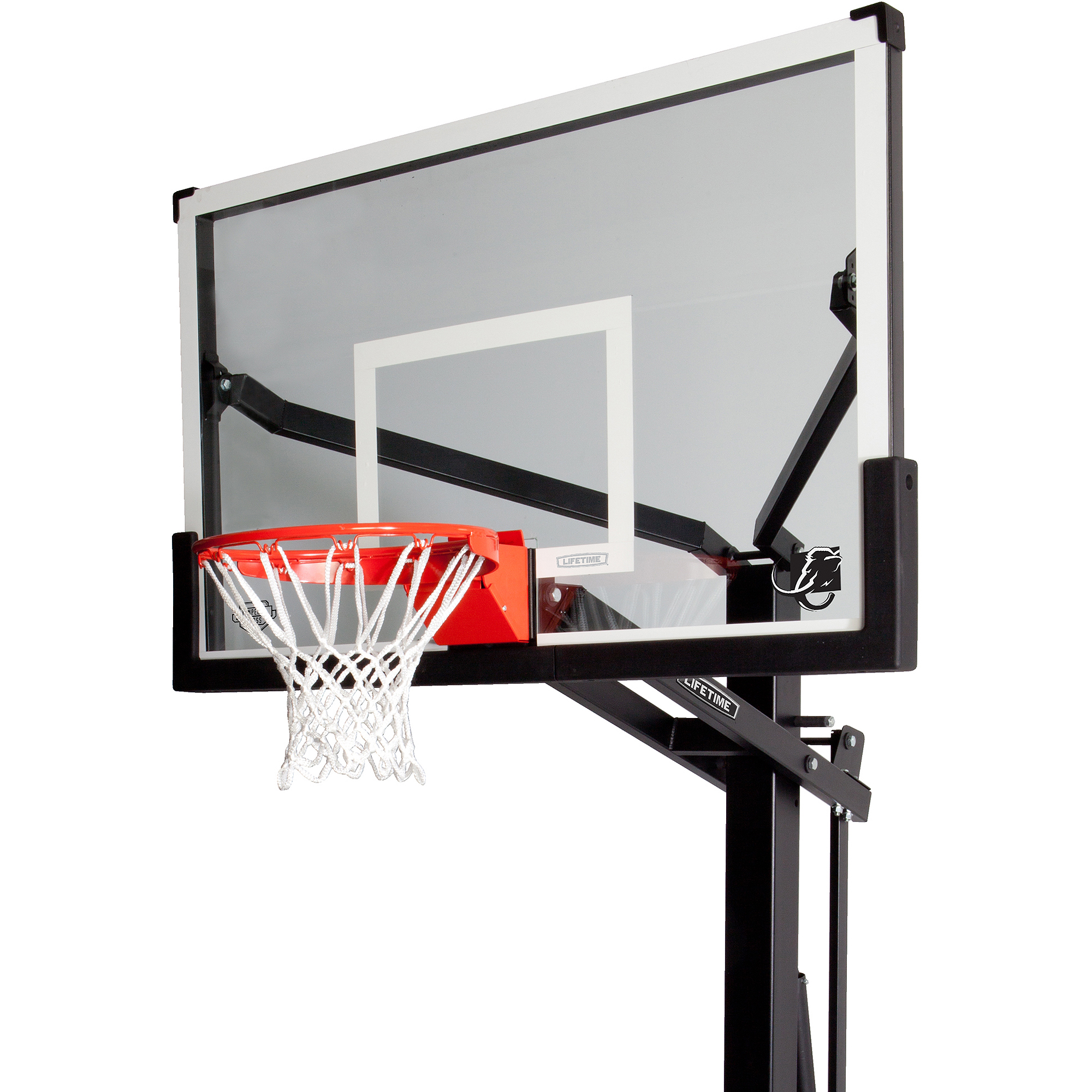 "Lifetime 60"" Mammoth Tempered Glass In-Ground Infinite Adjustable Basketball System, 90180"