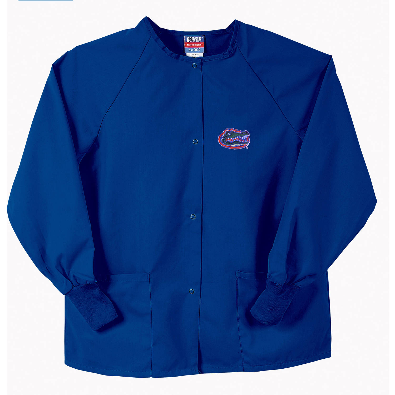 NCAA GelScrubs Royal Blue Nursing Jacket - University of Florida Gators - Gator head