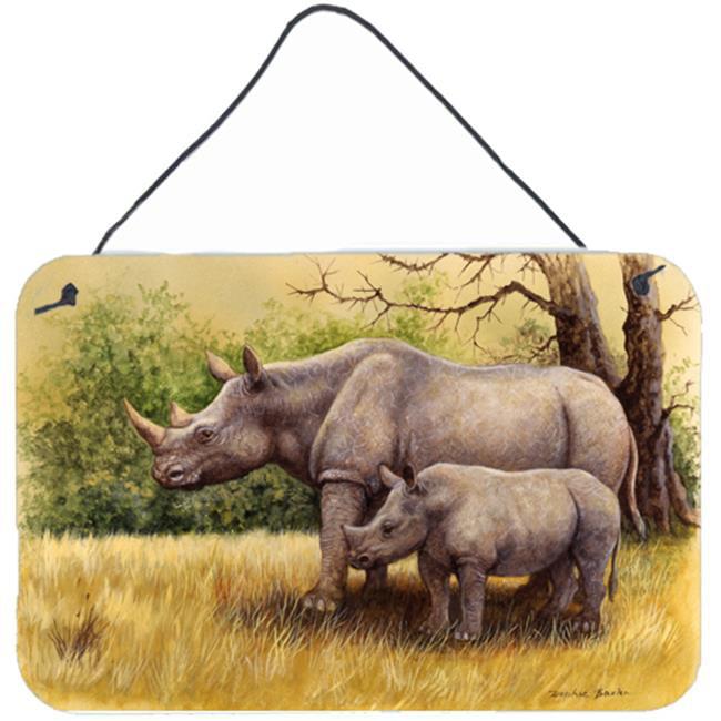 Carolines Treasures BDBA0306DS812 Rhinoceros by Daphne Baxter Wall or Door Hanging Prints - image 1 of 1