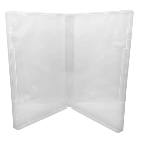 CheckOutStore 50 Clear Storage Cases 21mm for Rubber Stamps /w Tabs (No Hub)