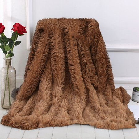 Shaggy Faux Fur Supersoft Ultra Plush Decorative Throw Blanket,Perfect To Throw On Your Sofa, Bed And In Your Car
