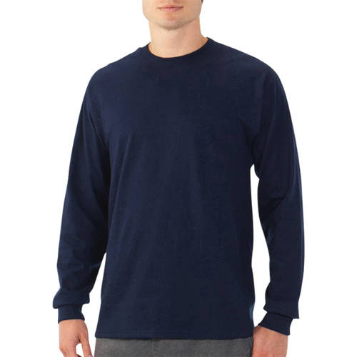 Fruit of the Loom Men's Long Sleeve Crew T Shirt with Rib Cuffs ...