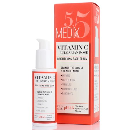 Medix 5.5 Vitamin C Serum with Hyaluronic Acid, Ferulic ...