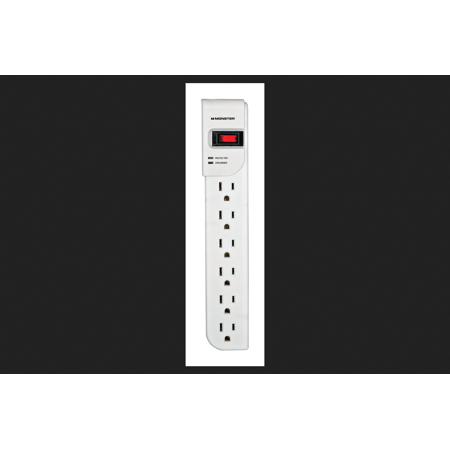 Monster Just Power It Up 4 ft. L 6 outlets Surge Protector