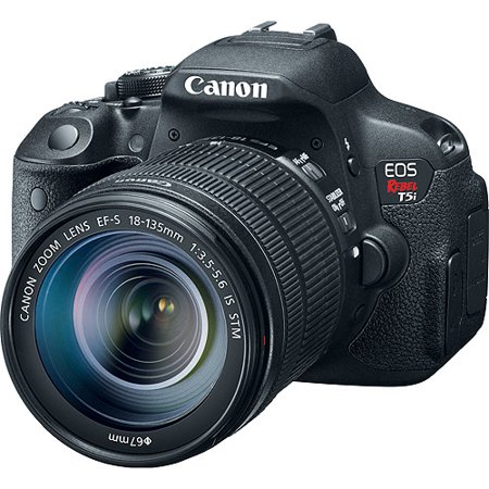 Canon Black EOS Rebel T5i Digital SLR Camera with 18 Megapixels and 18
