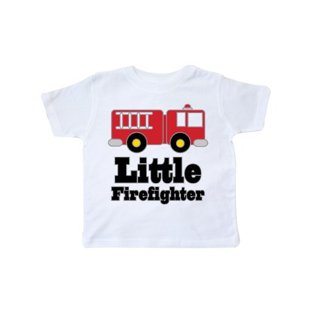 Little Firefighter Fire Engine Toddler T-Shirt