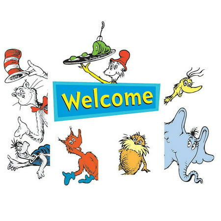 Cat In The Hat Welcome Go-Around decoration for classroom, birthday parties & more, Dr. Seuss' Welcome Go-Arounds go around anything, including classroom.., By Eureka](Cat In The Hat Birthday Decorations)
